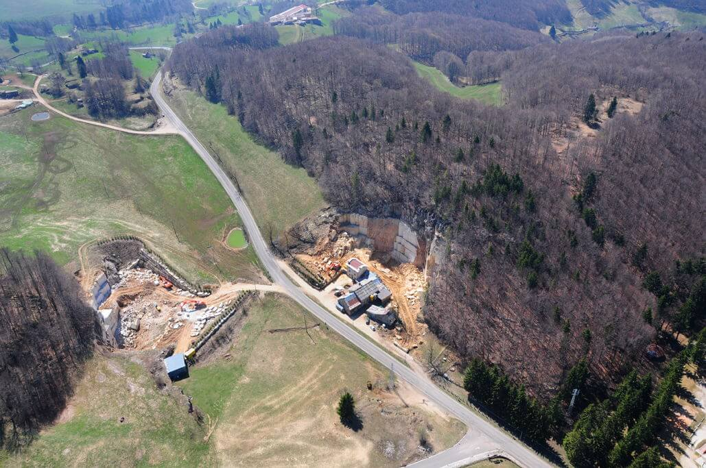 Aerial images of quarries Rancan
